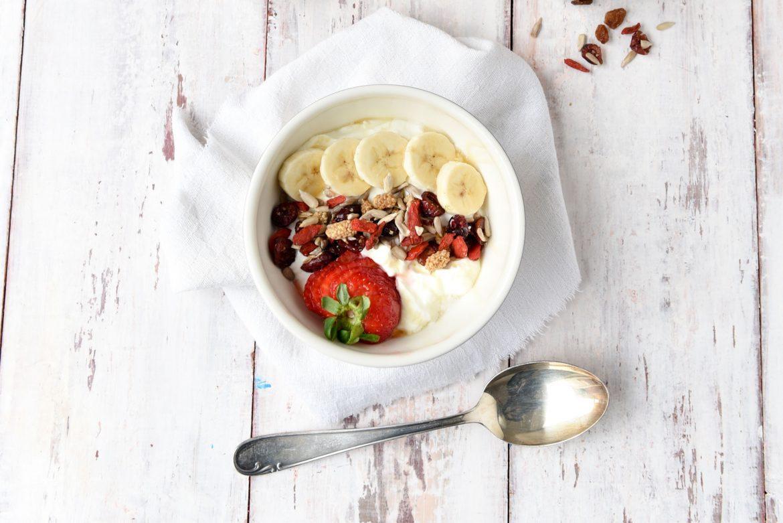 Power ontbijt met superfoodmix