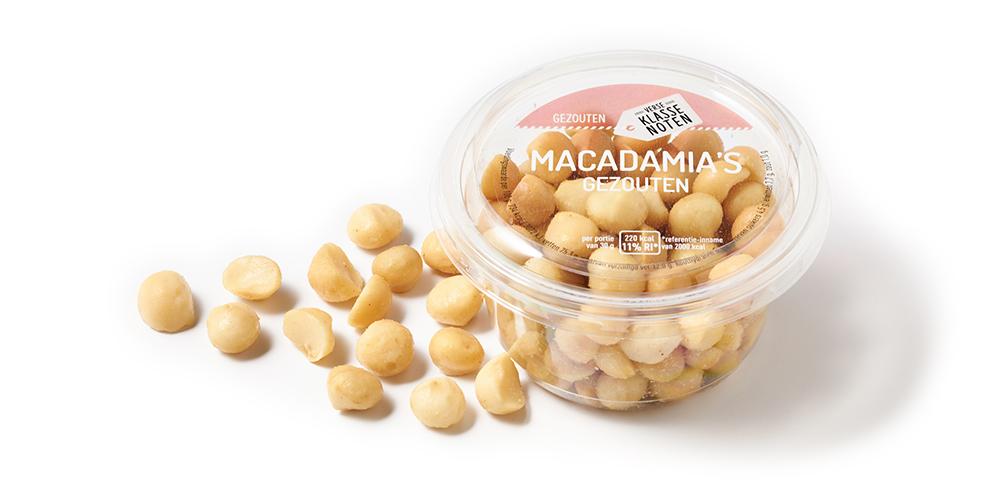 Gezouten macadamia's